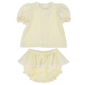 Poeme + Poesie Flutter Sleeve and Bloomer Set
