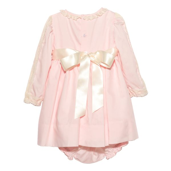 Tot A Porter Baby French Long Sleeve Pink Dress FW19