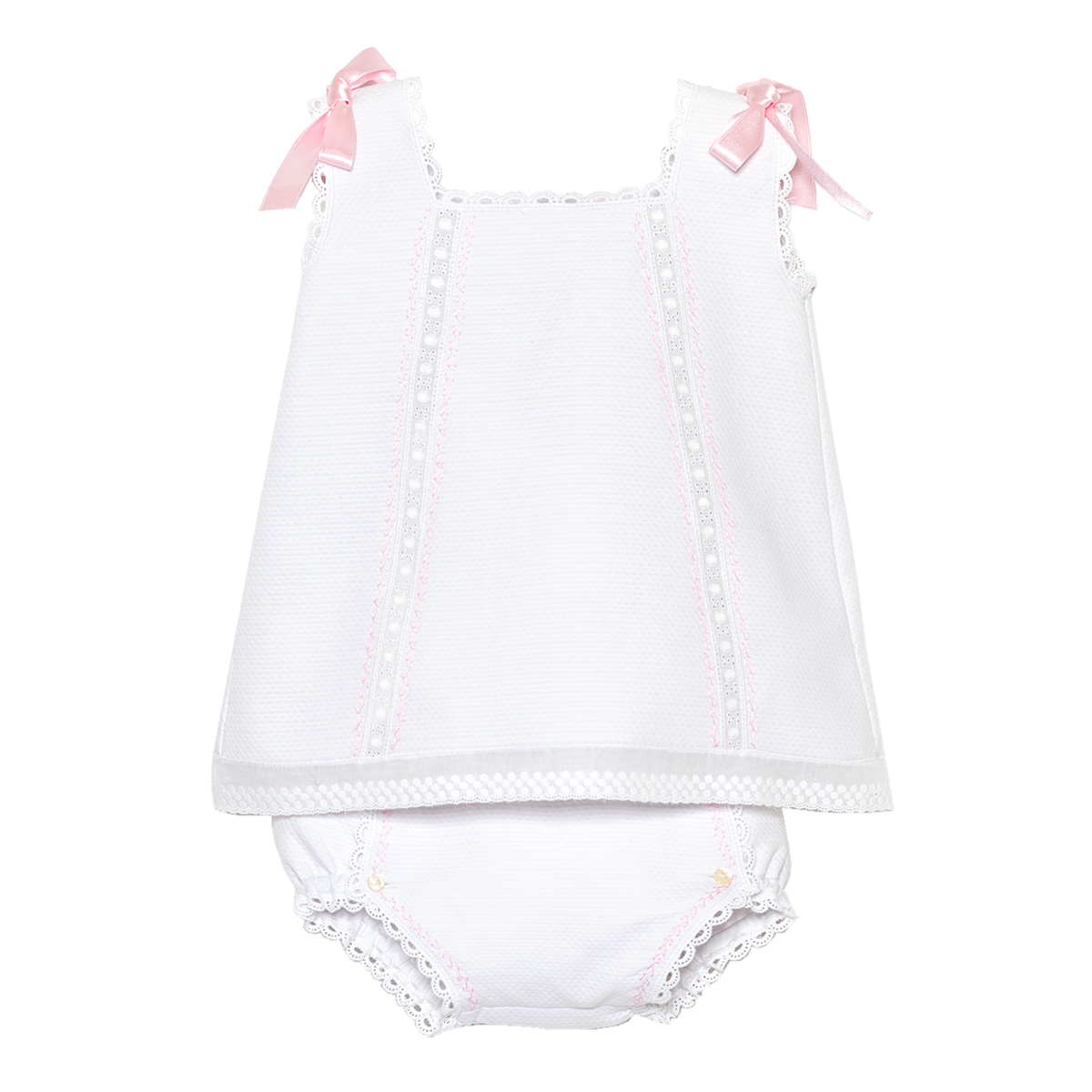 Tot A Porter Baby Pique Cotton Short Dress FW19