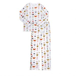 hart + land women's pima cotton pj set - bugs