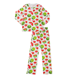 HART + LAND womens pima cotton pij set - watermelon