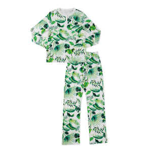 hart + land women's pima cotton pj set - banana leaves