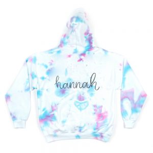 Theme Adult Hoodie in Pink, Blue, and Purple