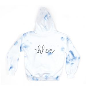 Theme Youth Hoodie in Navy and White