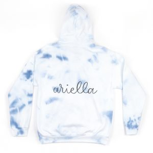 Theme Adult Hoodie in Navy and White