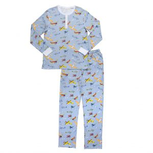 HART + LAND Mens Pima Cotton Airplane PJs