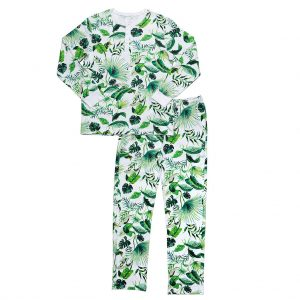 hart + land men's pima cotton pj set - banana leaves