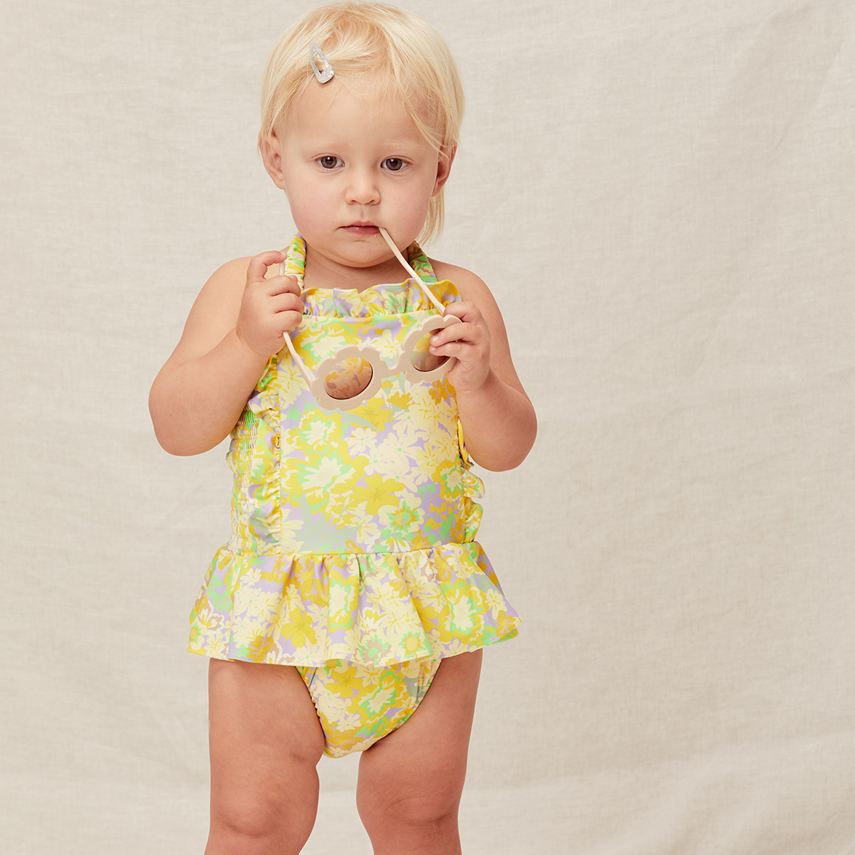 Lil Lemons Tutti Fruiti Swimsuit in Yellow