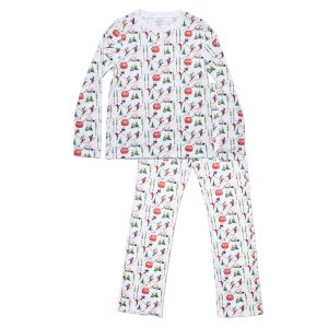 HART + LAND pima cotton pj set vintage skiers