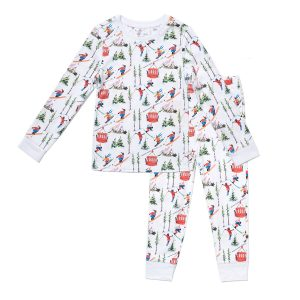 HART + LAND Pima Cotton PJ Set - vintage skiers