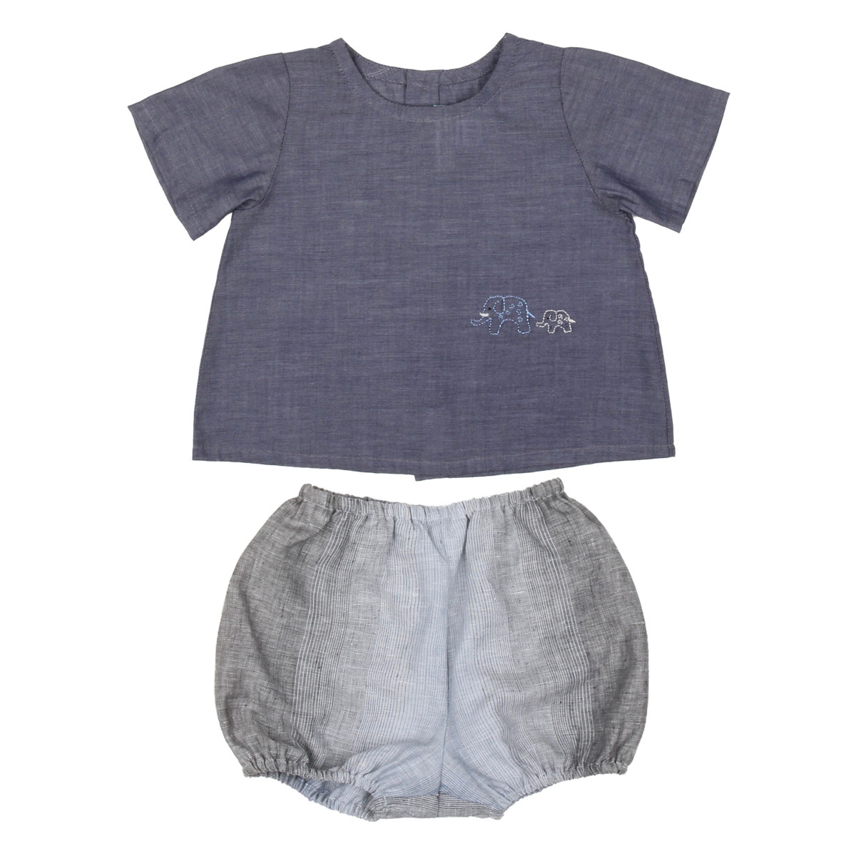 Poeme & Poesie Elephant Shirt and Bloomers