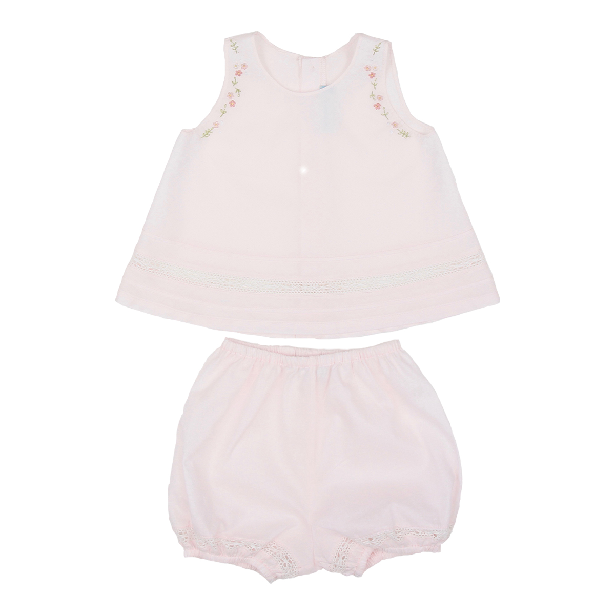 Poeme + Poesie Sleeveless Top with Flower Details and Bloomers
