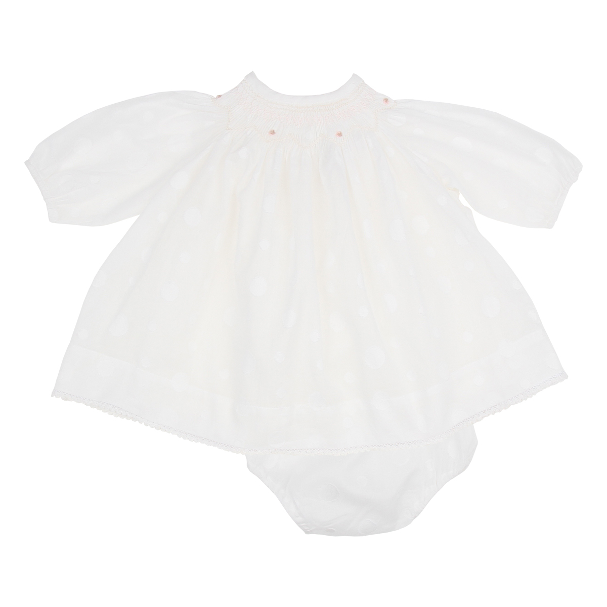 Poeme and Poesie Smock Circles Dress + Bloomers Set