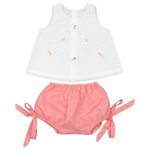 Poeme + Poesie Smocked Flower Top + Bloomers