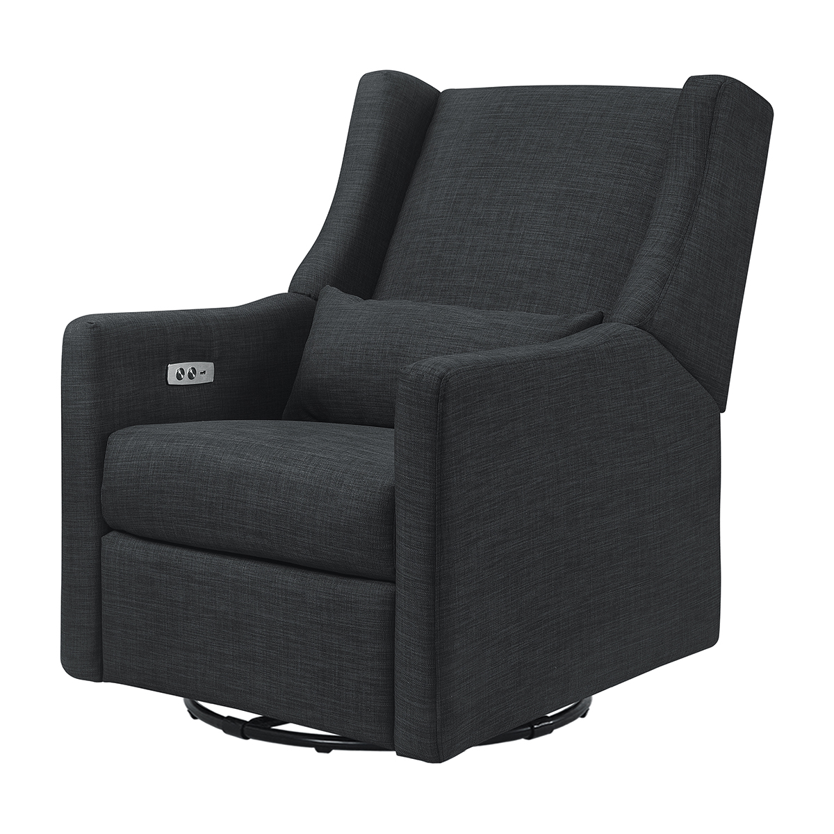 Kiwi Glider Recliner with Electronic Control & USB in Coal Grey