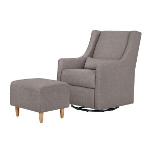 Babyletto Toco Swivel Glider& Ottoman Tweed Grey