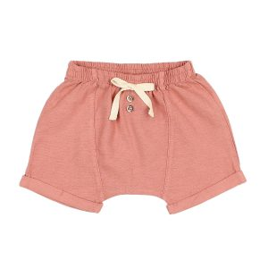 Buho Lucas Cotton Shorts in Brick