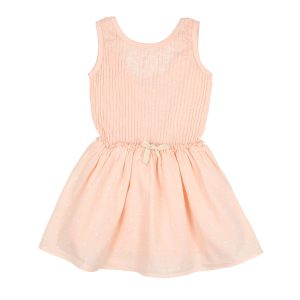 Buho Sara Rib Crepe Dress in Blush Pink