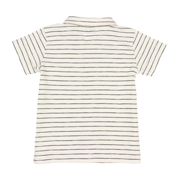 Buho Toddler Big Kid Jude Stripes Cotton Shirt Graphite FW19