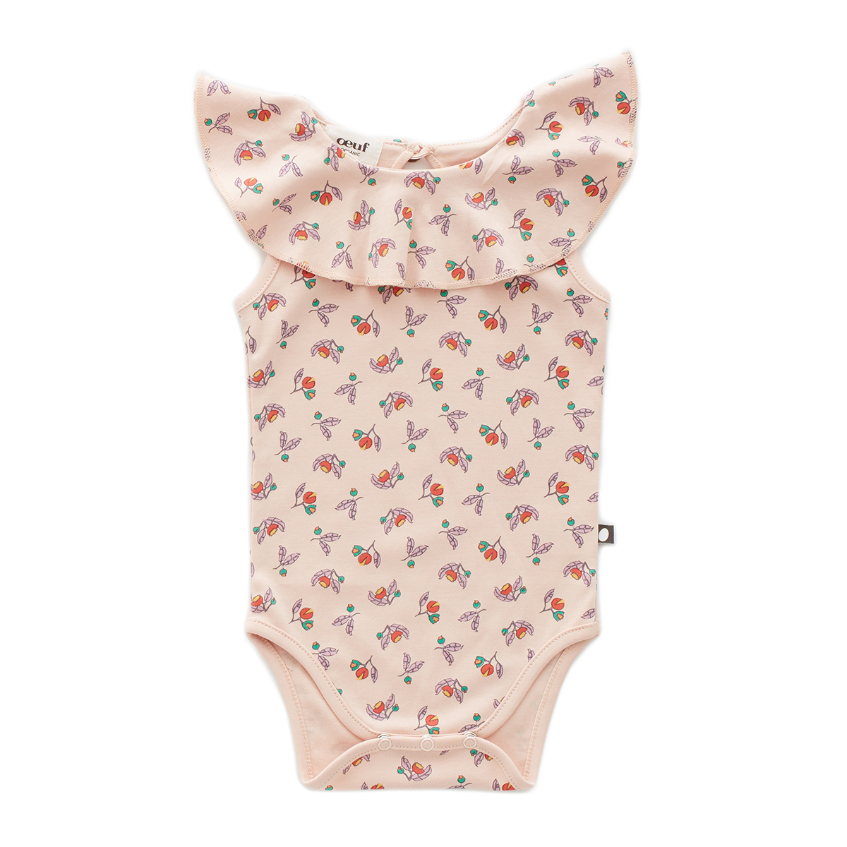 Oeuf Baby/Toddler Sleeveless Ruffle Onesie - Small Flower