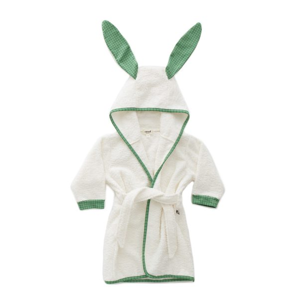Oeuf Toddler/Big Kid Bunny Robe – Green Checks