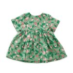 OeufSS20ShortSleeveDressGreenFlowers2