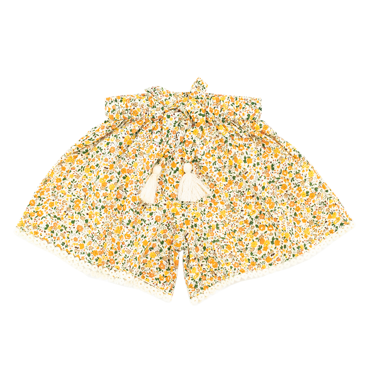 Madras Made Amber Shorts in Yellow Floral