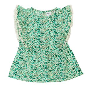 Madras Made Green Floral Top