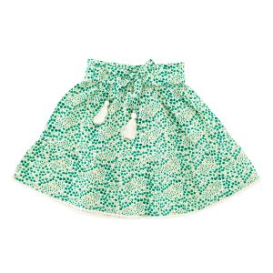 Madras Made Emerald Skirt