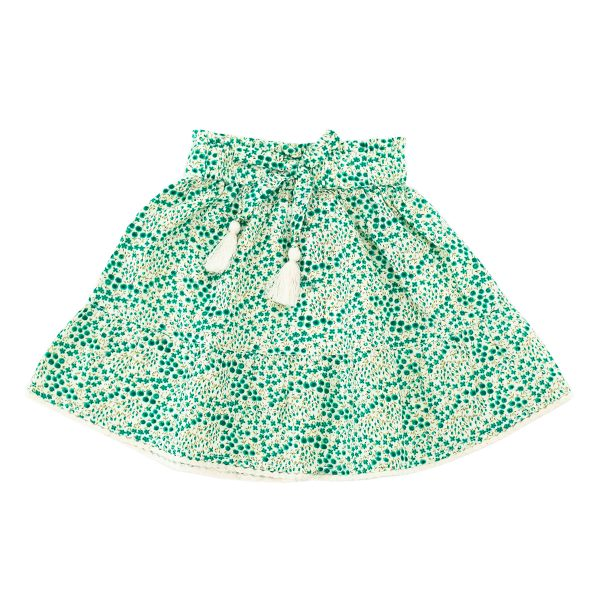 Madras Made Emerald Skirt Green