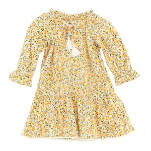 Madras Made Ruby Dress in Yellow Floral