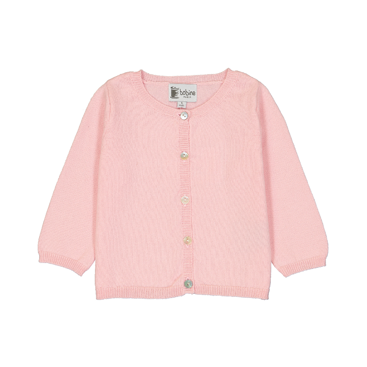 Bobine Baby Cardigan in Rose