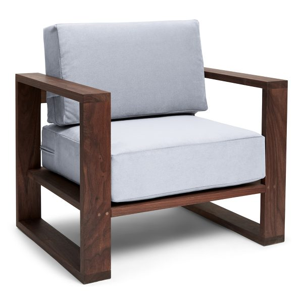Franklin + Emily Chair Walnut Cadet Grey