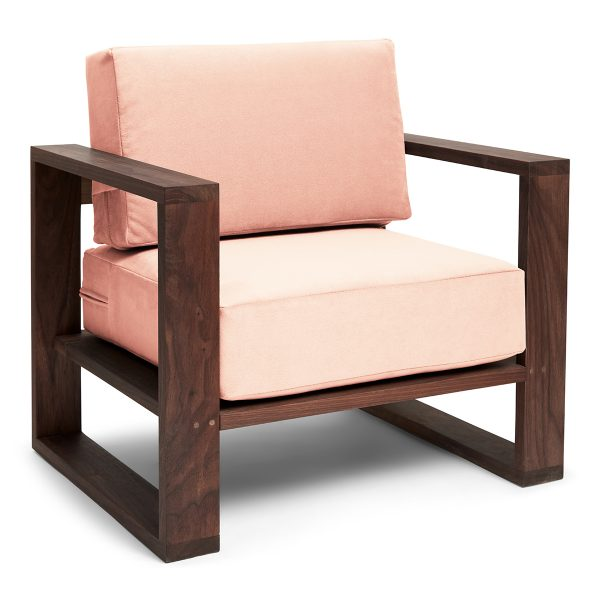 Franklin + Emily Chair Walnut Champagne
