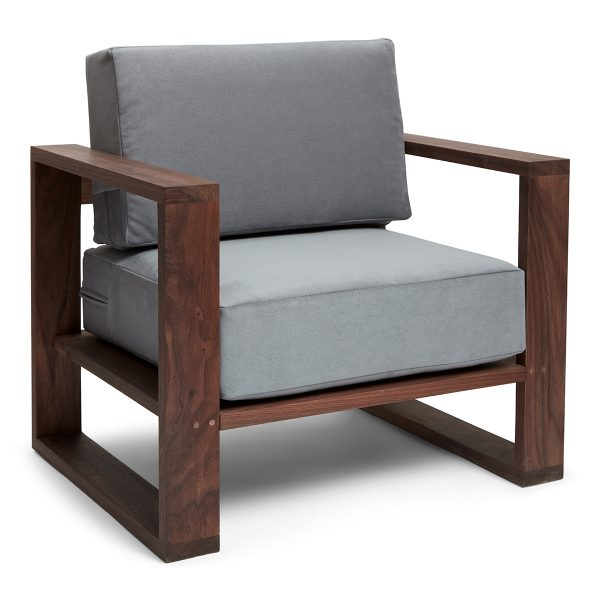 Franklin + Emily Chair Walnut Deep French Grey