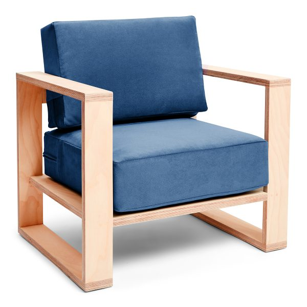 Franklin + Emily Chair Ash Brittnay Blue