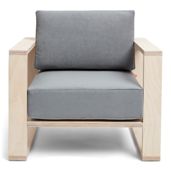 Franklin+ Emily Chair Birch Deep French Grey