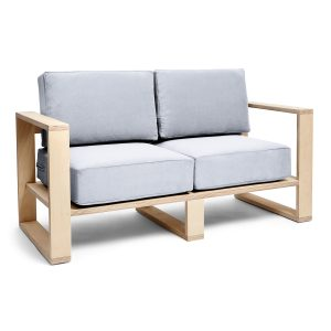 Franklin + Emily Two Seater Sofa Cadet Grey