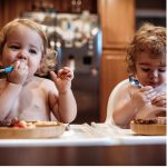 Avanchy Stainless Steel Infant Spoons 2 Pack Lifestyle Image