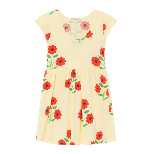 Animals Observatory SS20 Butterfly Dress Red Flowers