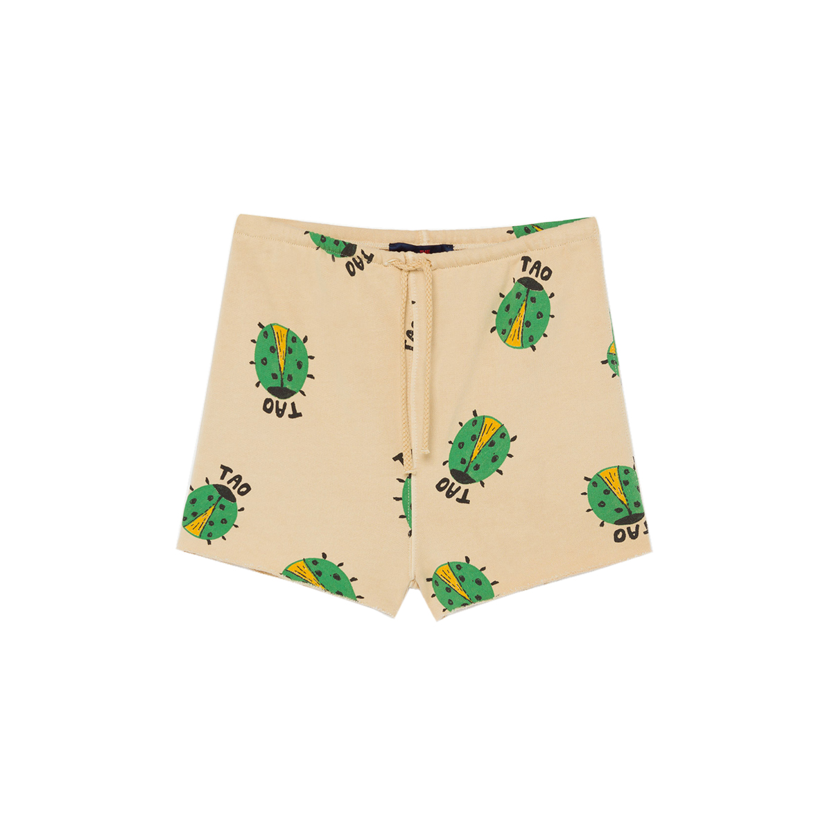 Animals Observatory SS20 Hedgehod Kid Shorts Green Ladybug