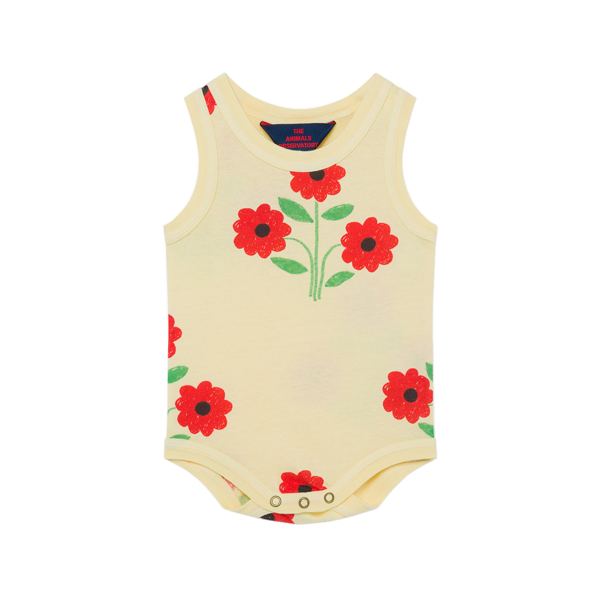 Animals Observatory SS20 Turtle Baby Body Red Flowers