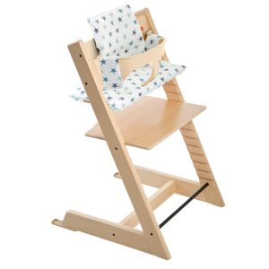 Stokke Tripp Trapp High Chair - Natural with Aqua Stars