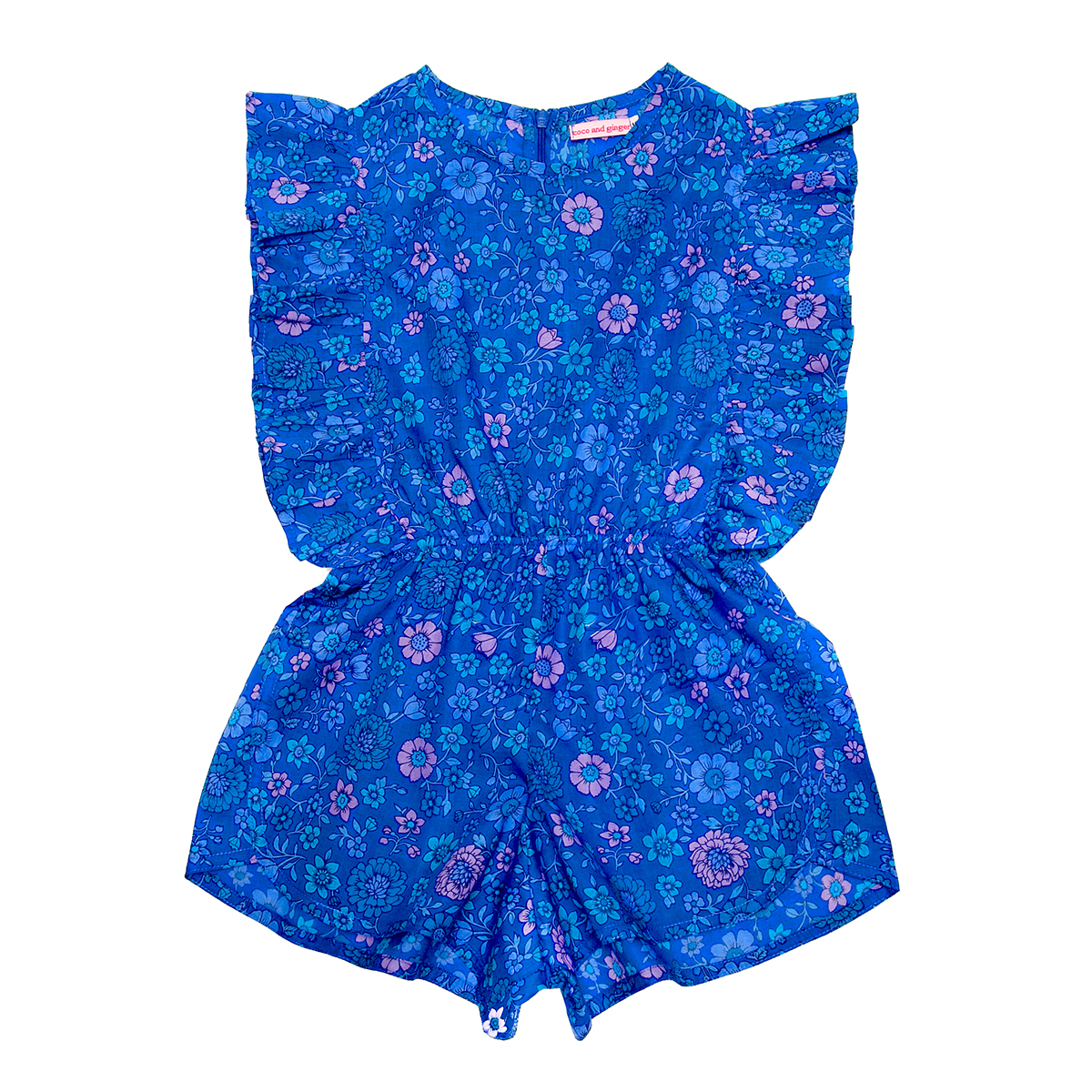 Coco Ginger Delphine Playsuit Sapphire Dahlia