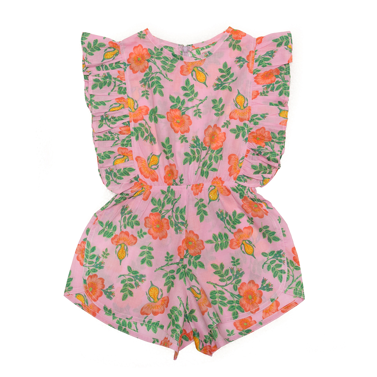 Coco Ginger SS20 Delphine Playsuit Sorbet Dogwood Rose