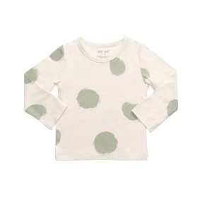 hart + land bamboo dot long sleeve crew neck