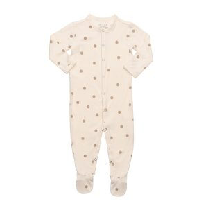 Hart + land bamboo footed bodysuit polka dots