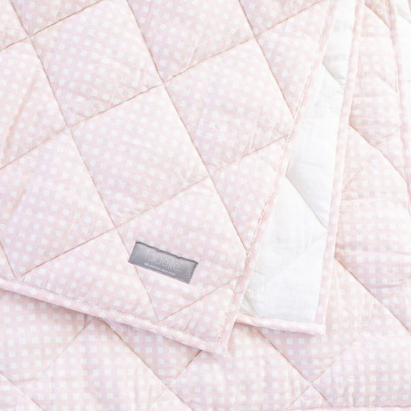 Louelle Play Mat/Quilt- Dusty Pink Gingham