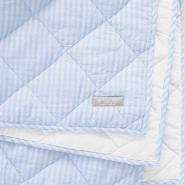 Louelle Play Mat/Quilt- Pale Blue Gingham