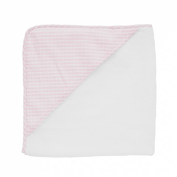 Louelle Hooded Towel-Dusty Pink Gingham